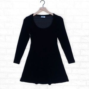 BCBG Vintage Velvet 90's Little Black Mini Dress